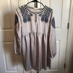 Urban Outfitter XS silver embroidered dress